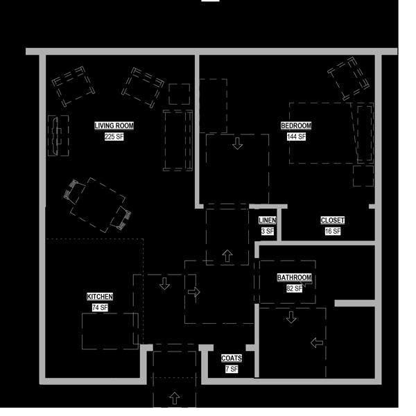 Assisted Living One Bedroom Deluxe Floor Plan